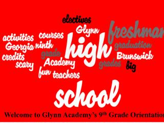 Welcome to Glynn Academy's 9 th  Grade Orientation