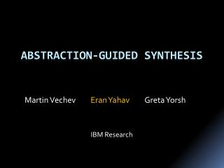 Abstraction-Guided Synthesis