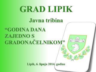 """GRAD LIPIK Javna tribina """"GODINA DANA  ZAJEDNO S GRADONAČELNIKOM"""" Lipik, 6. lipnja 2014. godine"""