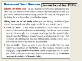 Language Textbook Pages 737-738