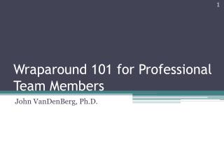 Wraparound 101 for Professional Team Members