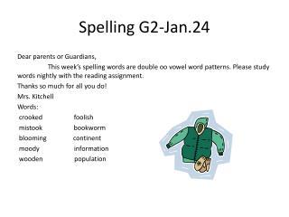 Spelling  G2-Jan.24