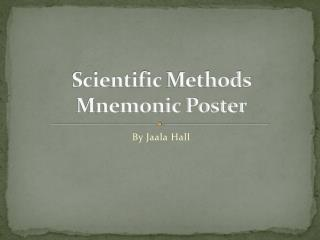 Scientific  Methods Mnemonic Poster