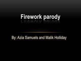 Firework parody