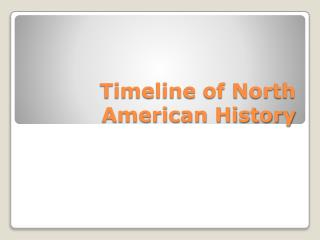Timeline of North American History