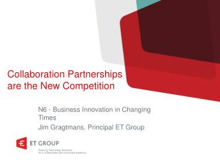 Collaboration Partnerships are the New Competition