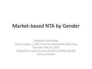 Market-based NTA by Gender