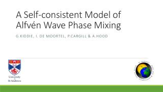 A Self-consistent Model of Alfv � n Wave Phase Mixing