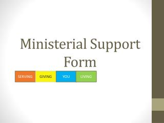 Ministerial Support Form