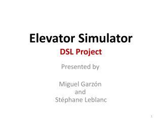 Elevator Simulator DSL Project