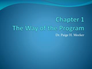 Chapter 1 The Way of the Program