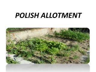 POLISH ALLOTMENT