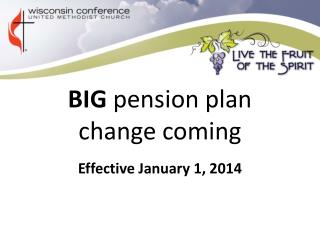 BIG  pension plan change coming