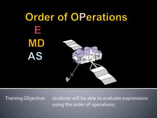 Order of  O P erations E MD AS