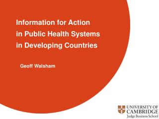 Information for action - definition