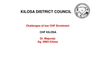 KILOSA DISTRICT COUNCIL