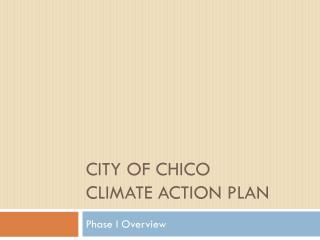 City of Chico climate action plan
