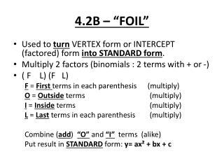"4.2B – ""FOIL"""