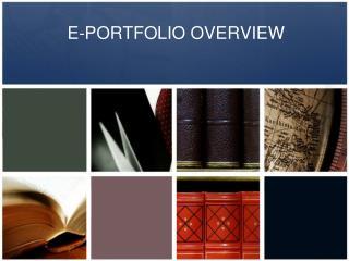 E-PORTFOLIO OVERVIEW