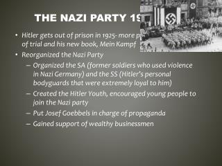 The  nazi  party 1924-1933