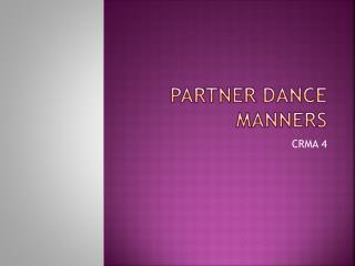 Partner Dance Manners