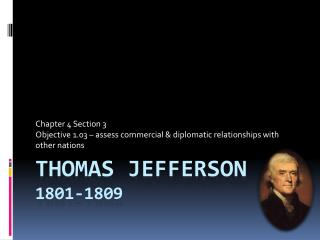 Thomas Jefferson 1801-1809