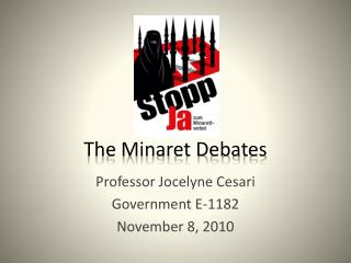 The Minaret Debates