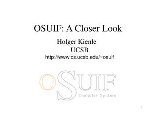 OSUIF: A Closer Look