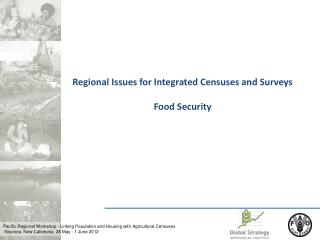 Regional Issues for Integrated Censuses and Surveys Food Security