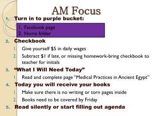 AM Focus