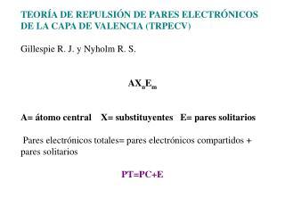TEORÍA DE REPULSIÓN DE PARES ELECTRÓNICOS DE LA CAPA DE VALENCIA (TRPECV)