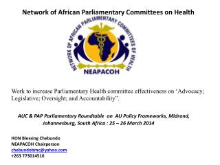Network of African Parliamentary Committees on Health