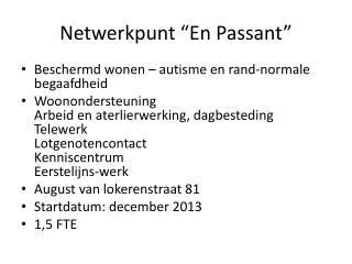 """Netwerkpunt """"En Passant"""""""