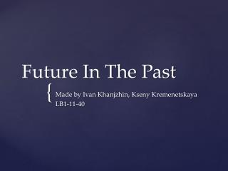 Future In The Past