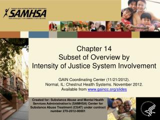 Chapter  14 Subset of Overview by  Intensity of Justice System Involvement