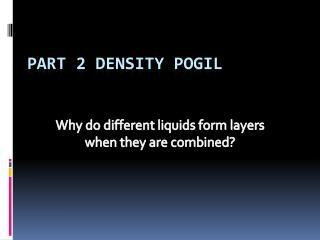 Part 2 Density  Pogil