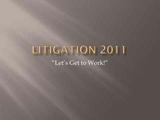 Litigation 2011