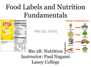 Bio 28: Nutrition Instructor: Paul Nagami Laney College