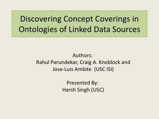 Discovering Concept Coverings in Ontologies of Linked Data Sources