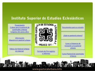 Presentación  5 ideas para la pastoral de juventudes urbanas  Congreso de Laicos 2011