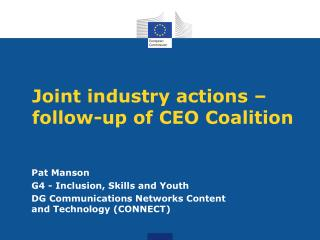 Joint industry actions – follow-up of CEO Coalition