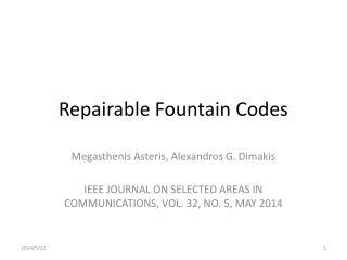 Repairable Fountain Codes