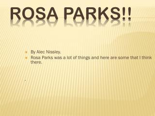 Rosa Parks!!