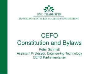 CEFO Constitution and Bylaws