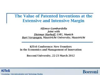 The Value of Patented Inventions at the Extensive and Intensive Margin