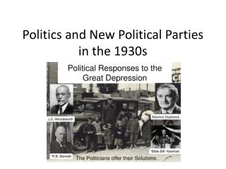 Politics and New Political Parties  in the 1930s