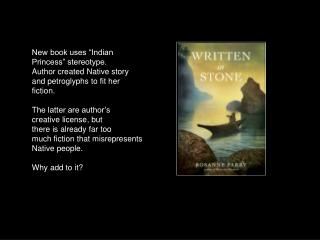"New book uses ""Indian Princess"" stereotype. Author created Native story"