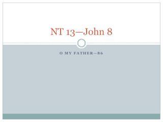 NT 13—John 8