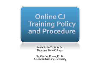 Online CJ Training Policy and Procedure