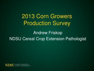 2013 Corn Growers Production Survey